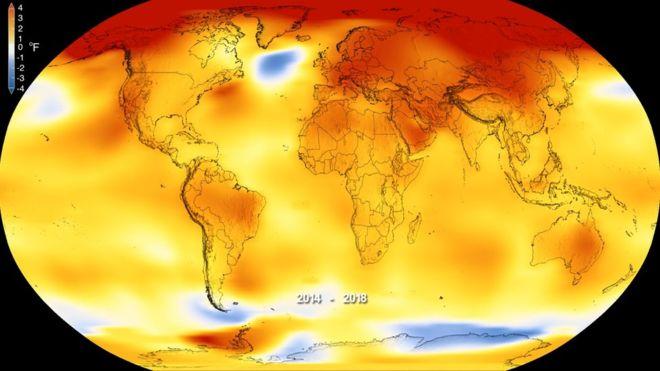 Global heating trend 2014-2018 (NASA)